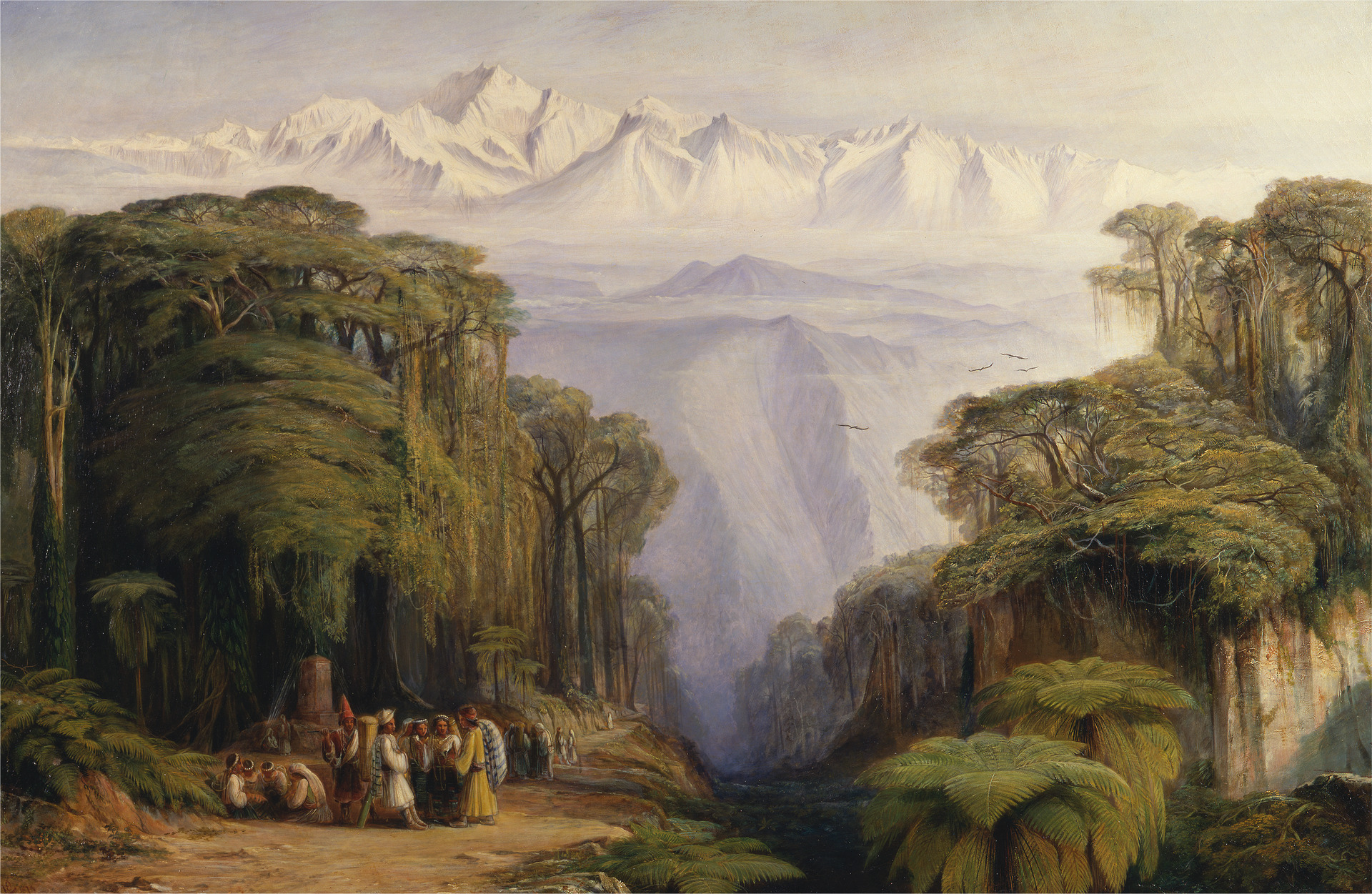 Edward Lear, Kangchenjunga from Darjeeling, 1879, oil on canvas, Yale Center for British Art, Gift of Donald C. Gallup, Yale BA 1934, PhD 1939