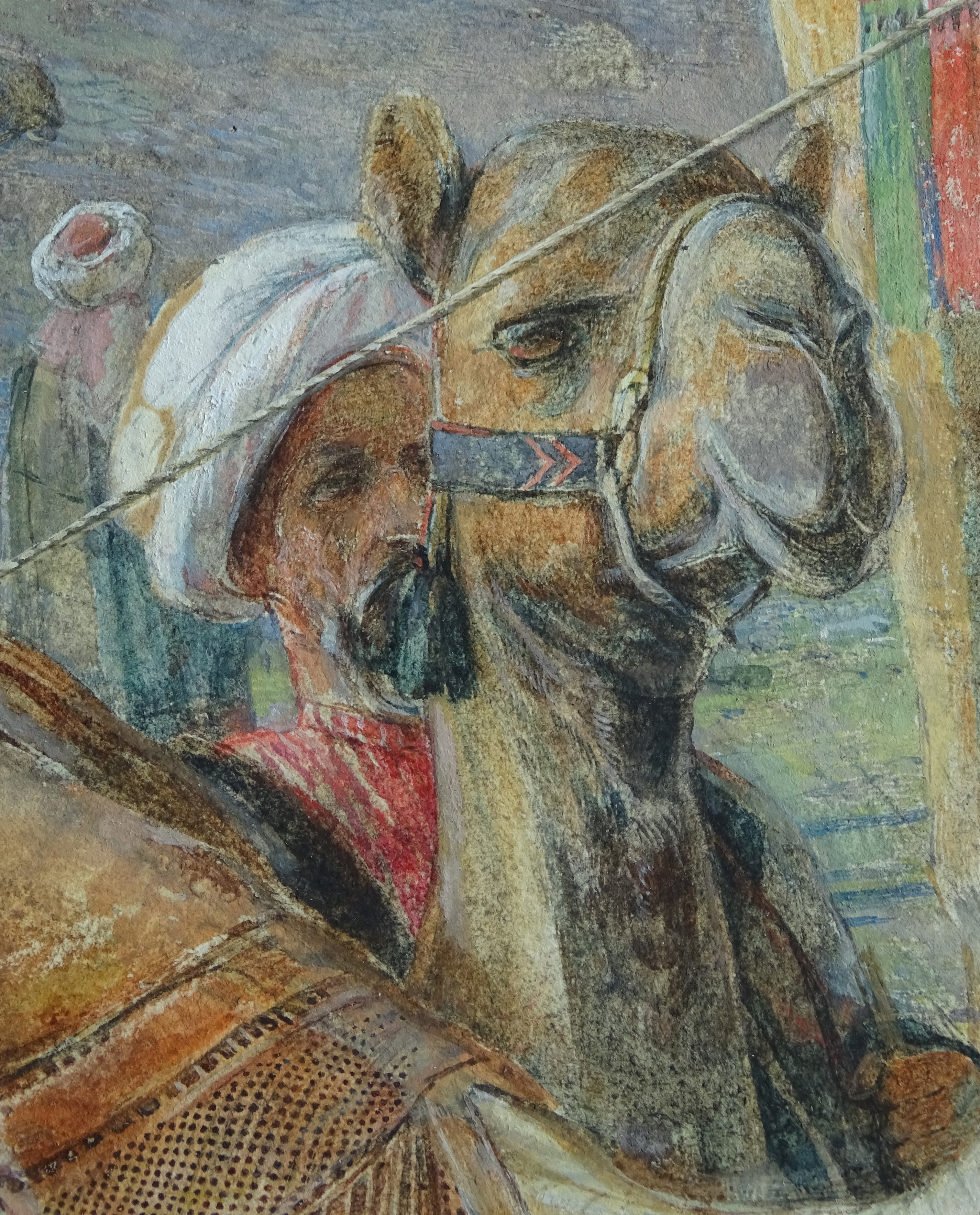 Detail of John Frederick Lewis's A Frank Encampment in the Desert of Mount Sinai, photo by Richard Caspole