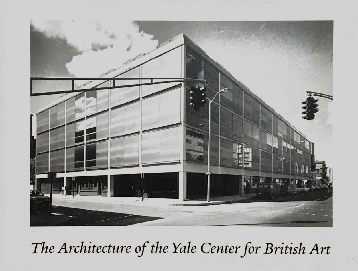 Cover, The Architecture of the Yale Center for British Art