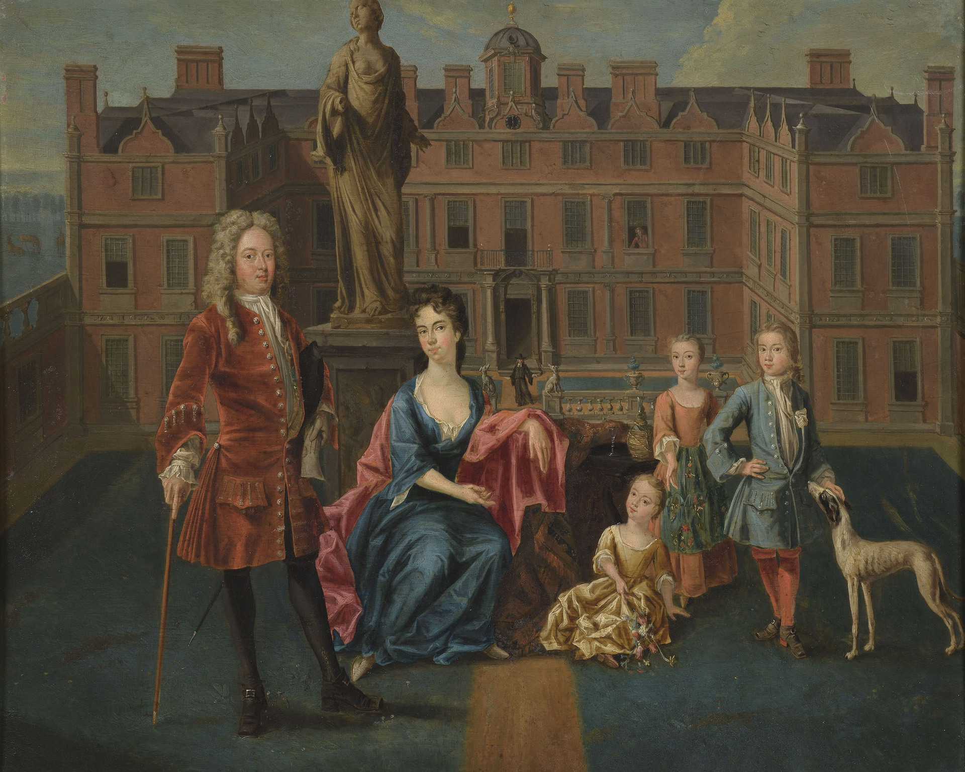 Unknown artist, The North Family at Glemham, 1715–16, oil on copper, Ipswich Borough Council Museums and Galleries, Suffolk, UK