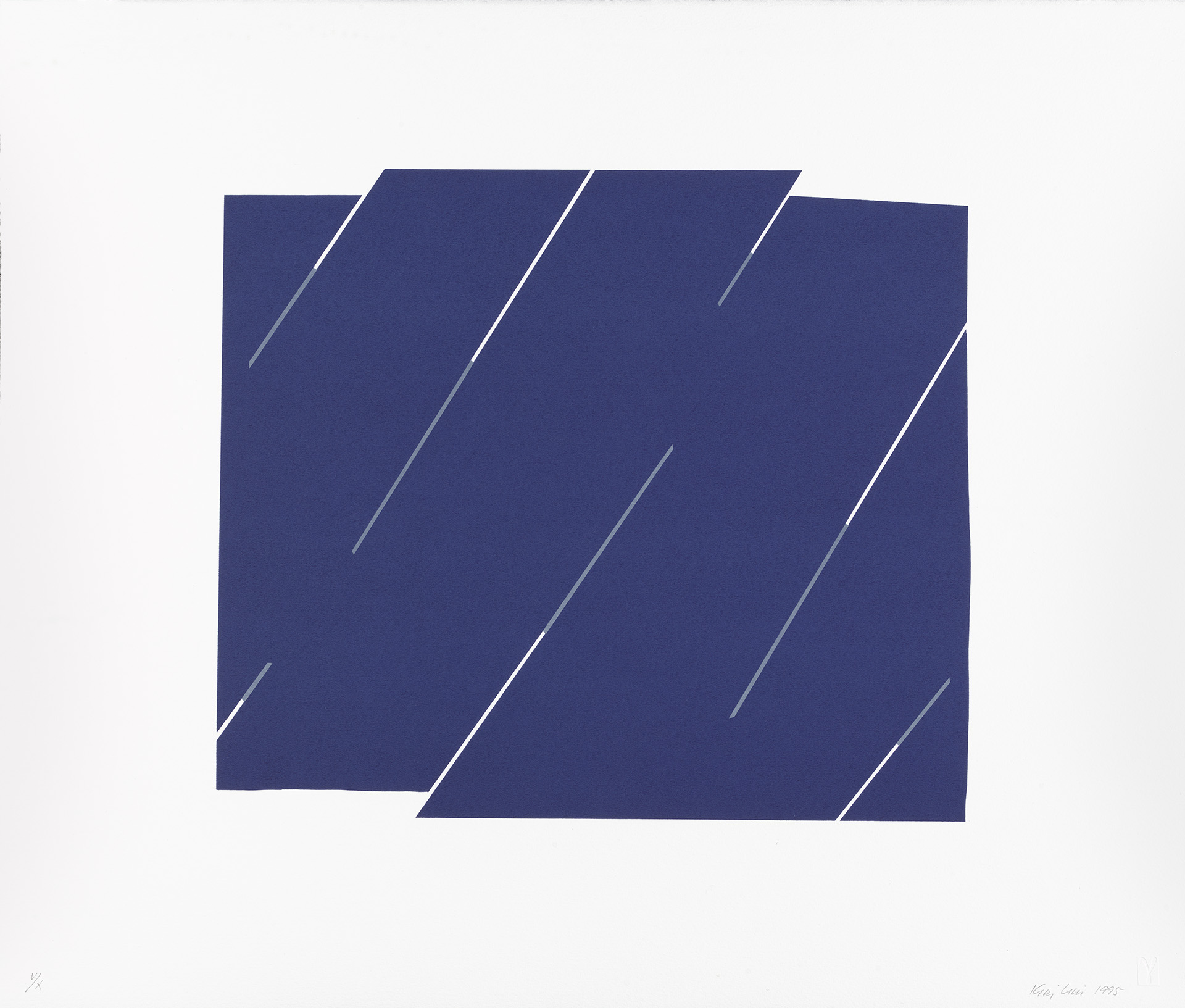 Kim Lim, Syncopation, 1996, screen print on paper, Yale Center for British Art, Gift of the Kasser / Mochary Family Foundation, © Kim Lim / Artists Rights Society, NY / DACS, London