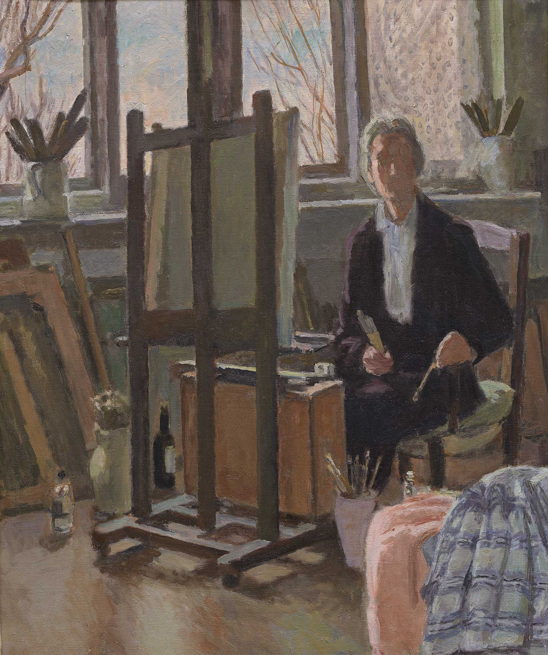 Vanessa Bell, The Artist in her Studio, 1952, oil on canvas, Yale Center for British Art, Louise Wheatley Collection, Gift of Alison, Kit, and Christopher Wheatley, © Estate of the Artist