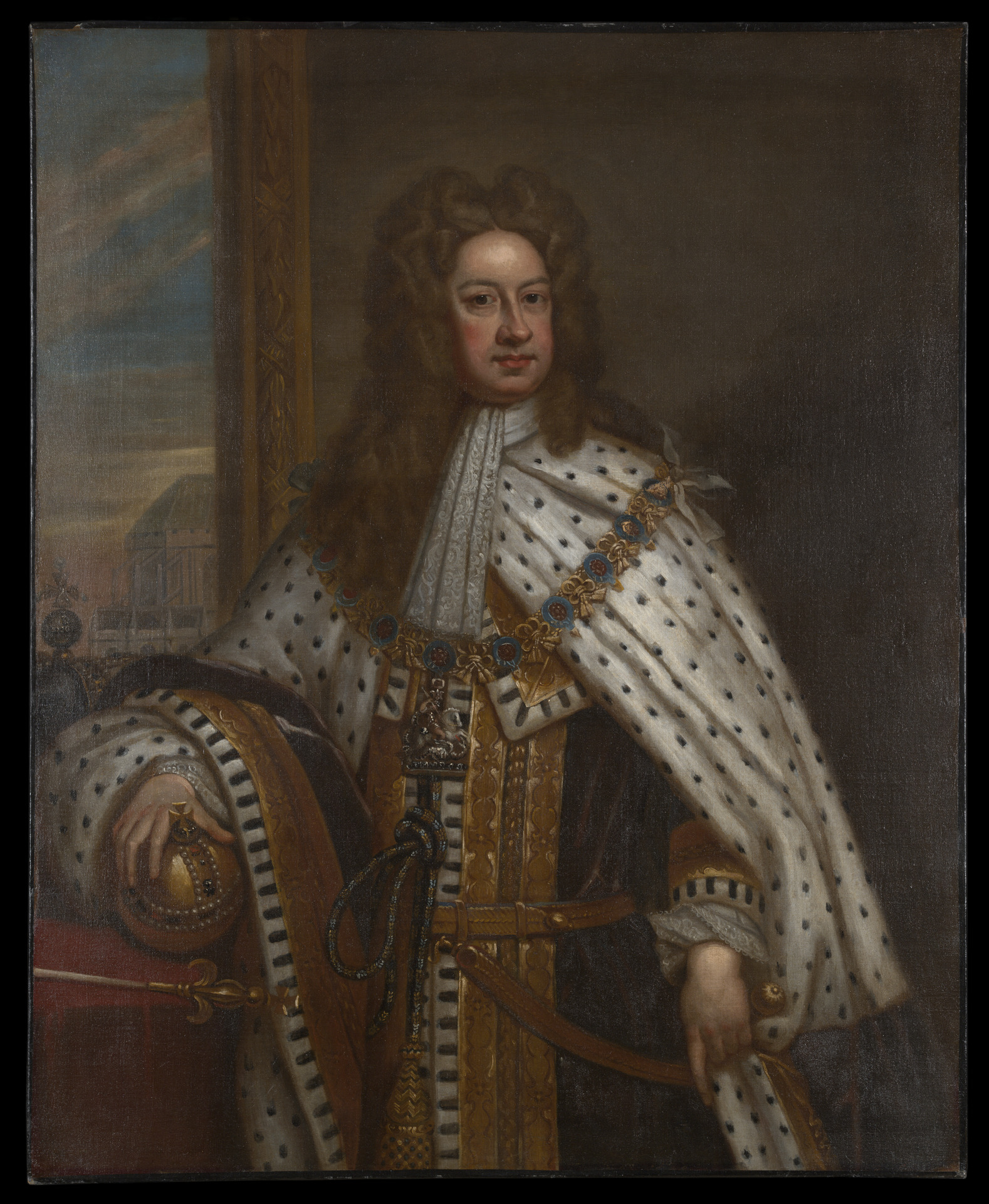 Sir Godfrey Kneller, King George I of Great Britain and Ireland, 1714, oil on canvas, Yale University Art Gallery, Gift of Governor Elihu Yale, 1718.1