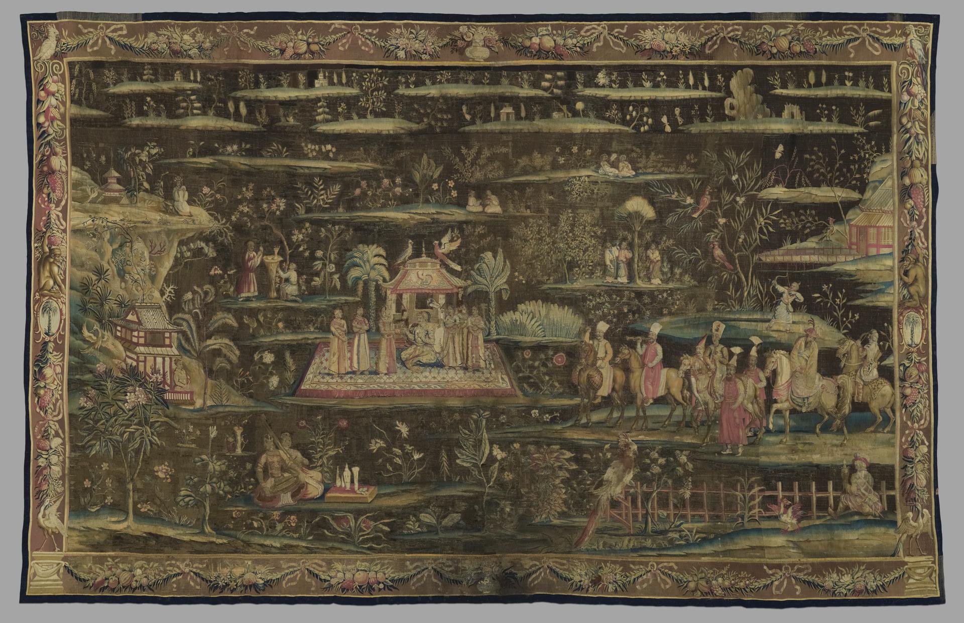 John Vanderbank the Elder, The Concert, ca. 1700, wool and silk, Yale University Art Gallery, Gift of Edward S. Harkness, BA 1897