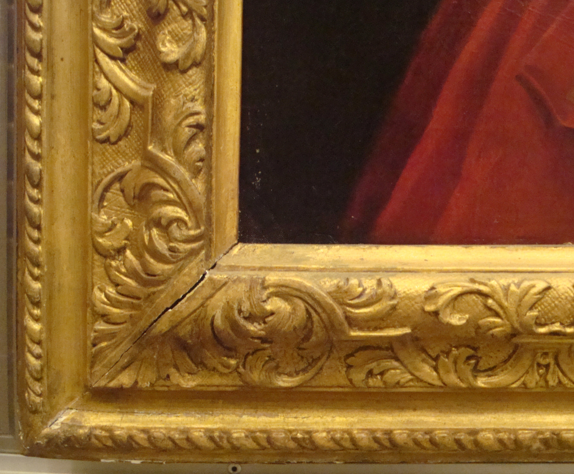 Unknown framemaker, Louis XIV frame, first quarter of the eighteenth century, carved wood, later oil gilding over original water gilding and gesso re-cutting, Yale Center for British Art, Gift of Andrew Cavendish, eleventh Duke of Devonshire