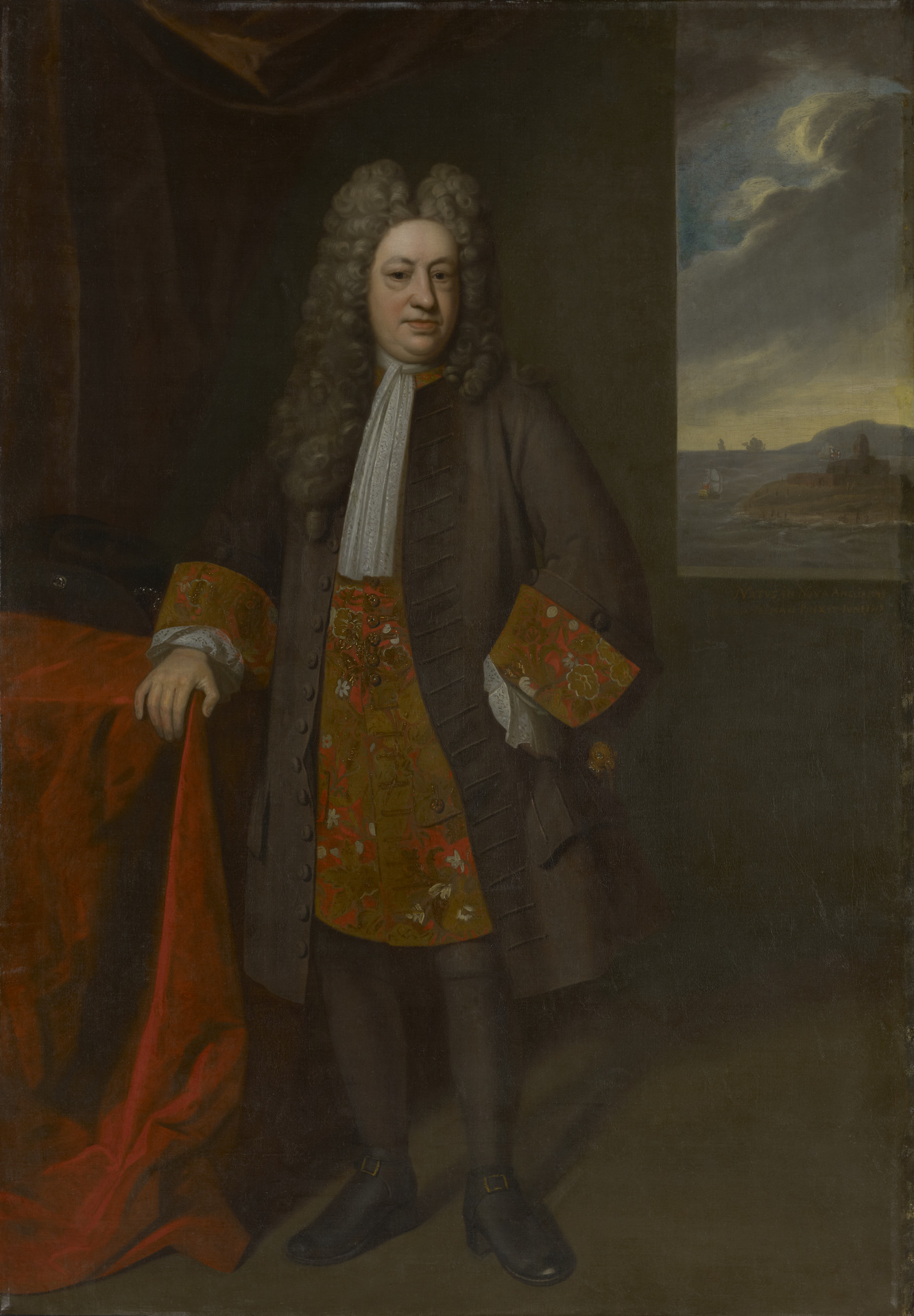Enoch Seeman the younger, Portrait of Gov. Elihu Yale (1648/49–1721), 1717, oil on canvas, Yale University Art Gallery, Gift of Dudley Long North, M.P.