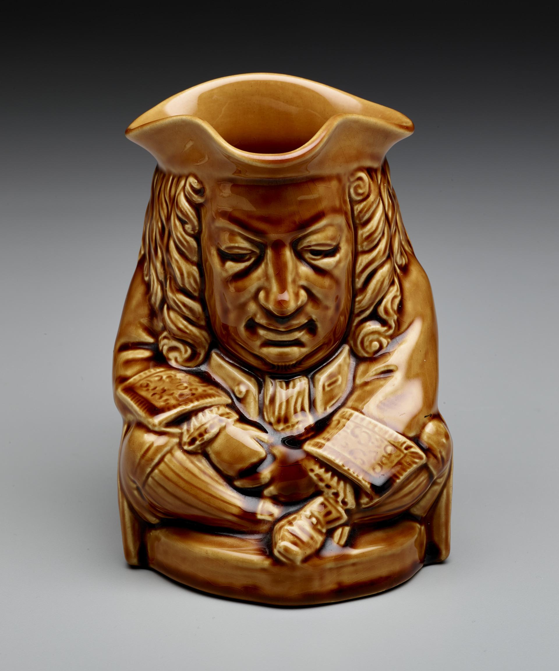"Josiah Wedgwood Factory, Elihu Yale ""Toby"" Jug, 1933, creamware, glaze, Dallas Museum of Art, Anonymous gift"