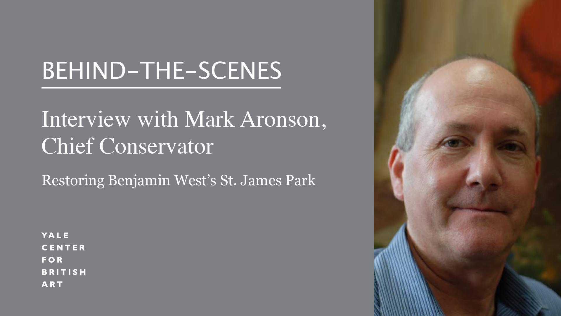 Mark Aronson, Chief Conservator at the Center