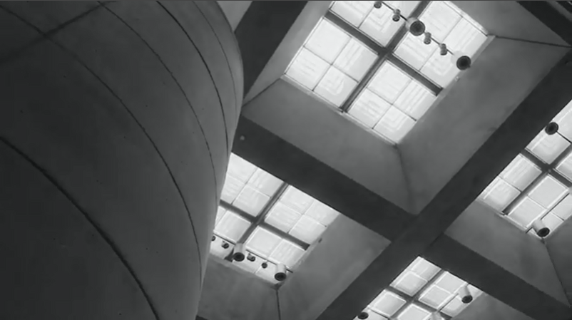 Film still, Iconic Kahn: Architectural Overview, Yale Center for British Art
