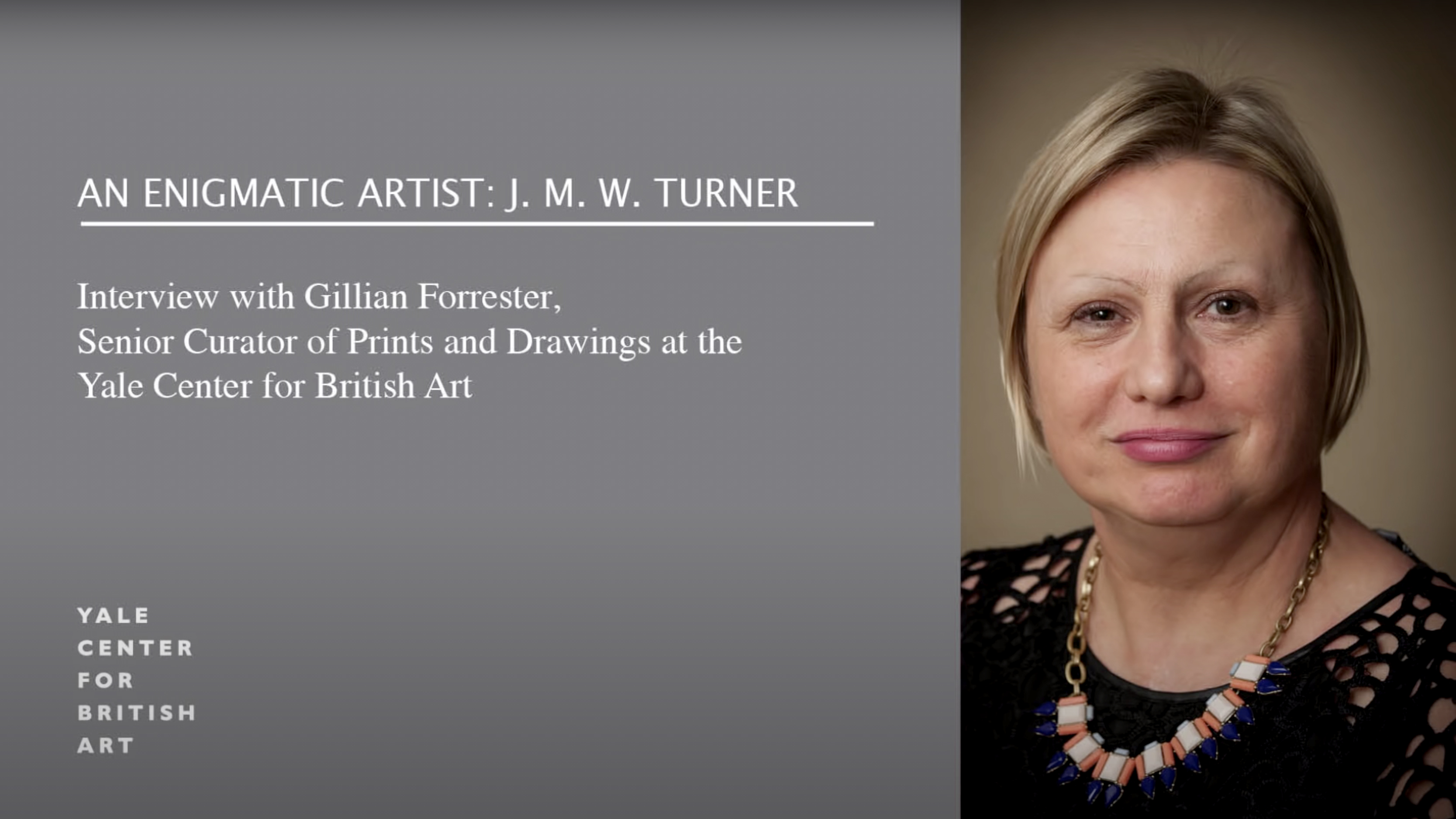 Gillian Forrester on the Fascination with J. M. W. Turner