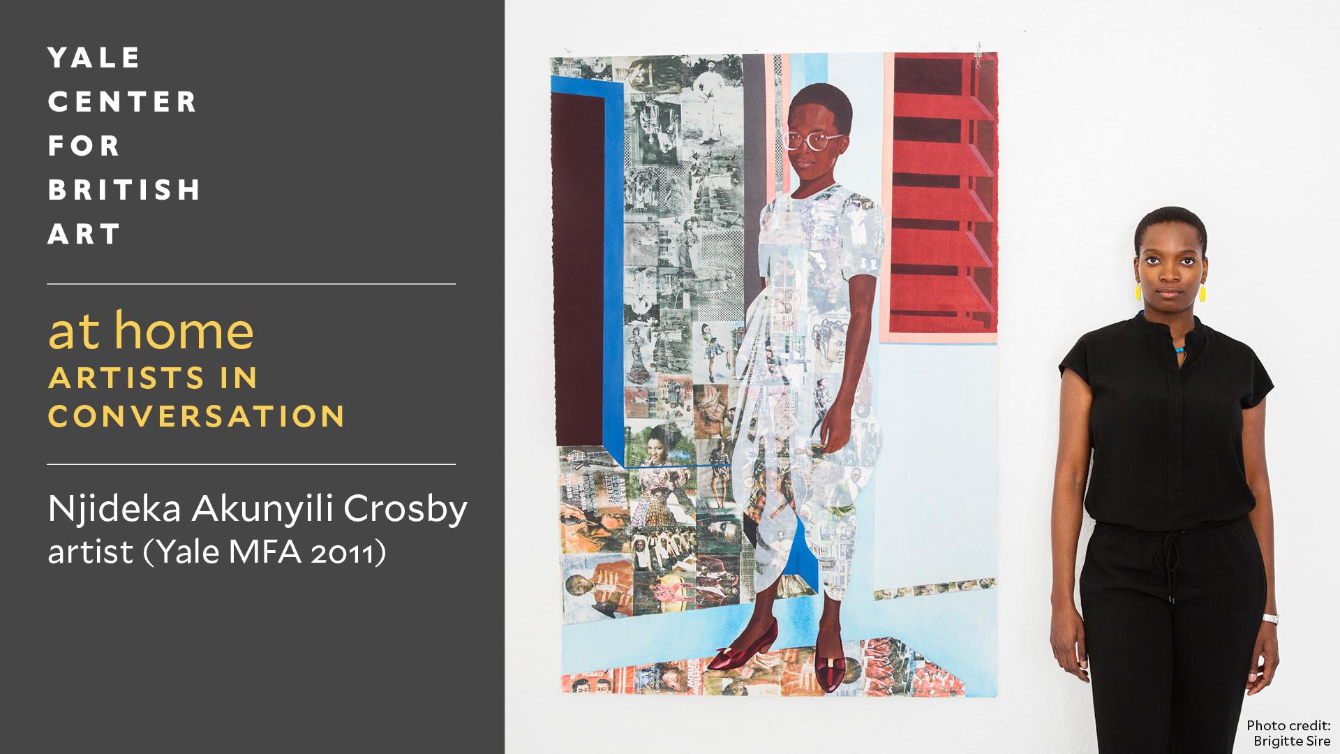 Njideka Akunyili Crosby, photo by Brigitte Sire