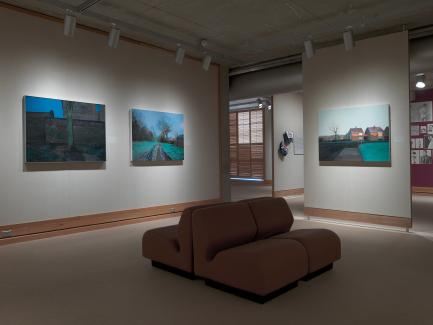 George Shaw: A Corner of a Foreign Field installation, Yale Center for British Art, photo by Richard Caspole