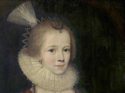Paul van Somer, A Young Girl (detail), ca. 1615, oil on panel, Yale Center for British Art, Paul Mellon Collection