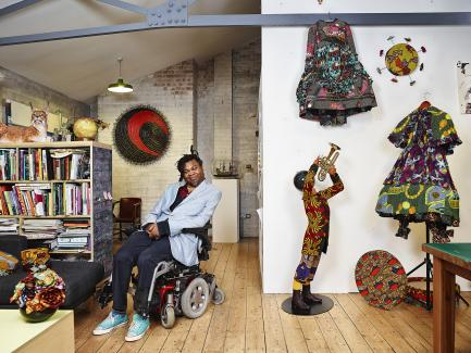 Artist Yinka Shonibare CBE (RA), photo by James Mollison © Yinka Shonibare Studio