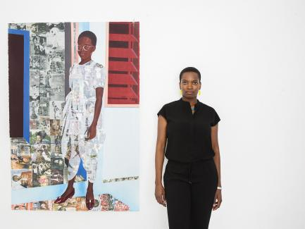 Njideka Akunyili Crosby, photo by Brigitte Sire