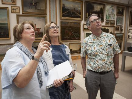 Summer Teacher Institute participants in the galleries (2017), Yale Center for British Art, photo by Camilla Parente