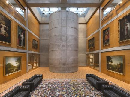 Library Court, Yale Center for British Art, photo by Richard Caspole