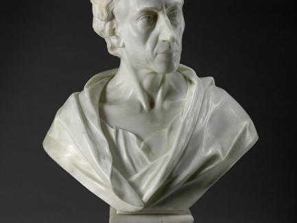 Louis François Roubiliac, Alexander Pope, 1741, marble, Yale Center for British Art, Gift of Paul Mellon in memory of the British art historian Basil Taylor (1922–1975)