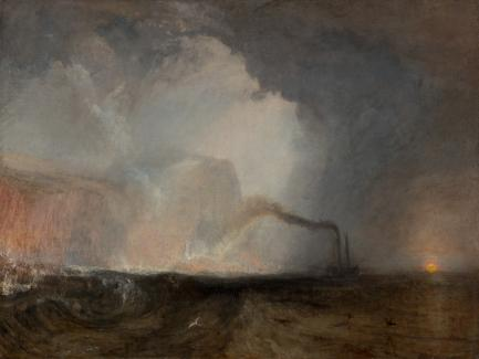 J. M. W. Turner, Staffa, Fingal's Cave, 1831 to 1832, oil on canvas, Yale Center for British Art, Paul Mellon Collection