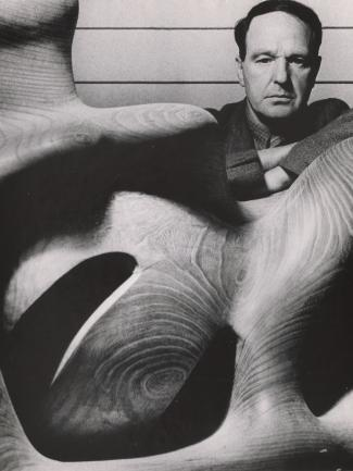 Bill Brandt, Henry Moore (detail), 1948, gelatin silver print, Hyman Collection, London, © Bill Brandt/Bill Brandt Archive Ltd.