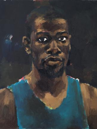 Lynette Yiadom-Boakye, Greenhouse Fantasies, 2014, oil on canvas, Hudgins Family Collection, © Lynette Yiadom-Boakye, courtesy of the artist, Jack Shainman Gallery, New York, and Corvi-Mora, London