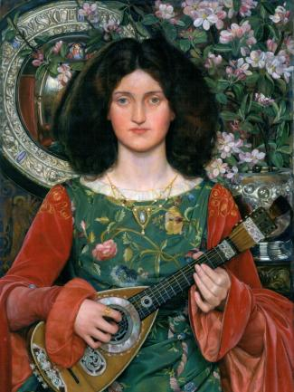 Kate Elizabeth Bunce, Musica, ca. 1895–97, oil on canvas in original frame, Presented by Sir John Holder, Bart., 1897, courtesy American Federation of Arts, © Birmingham Museums Trust