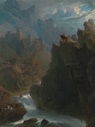 John Martin, The Bard (detail), ca. 1817, oil on canvas, Yale Center for British Art, Paul Mellon Collection